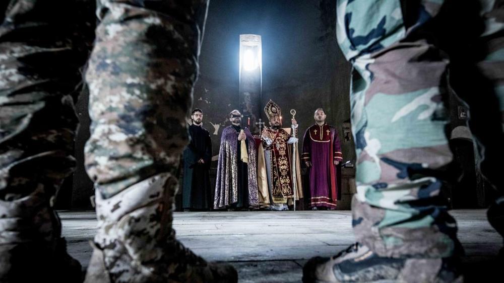 Il vescovo armeno Vrtanes Abrahamian (foto di Roberto Travan)
