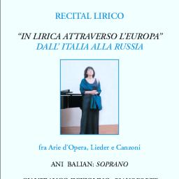 """Recital lirico """"IN LIRICA ATTRAVERSO L'EUROPA"""""""