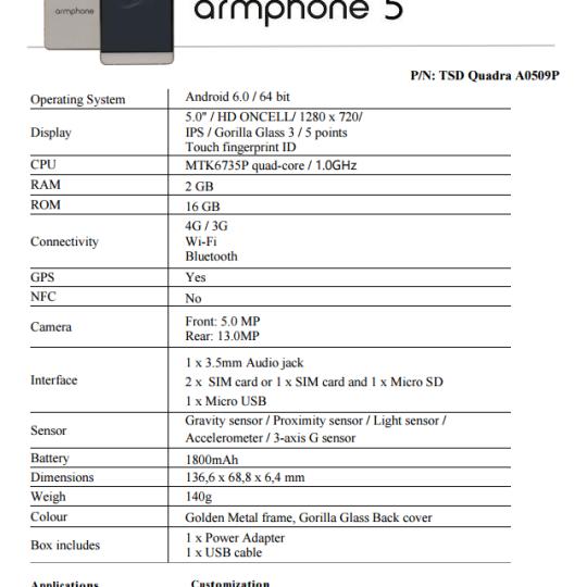 ArmPhone 0509 – 131 000 (USD 271.8)