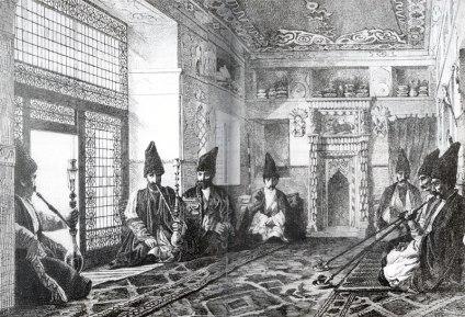 Salotto di una casa Tatara a Shushi, Louis Figuier, 1873