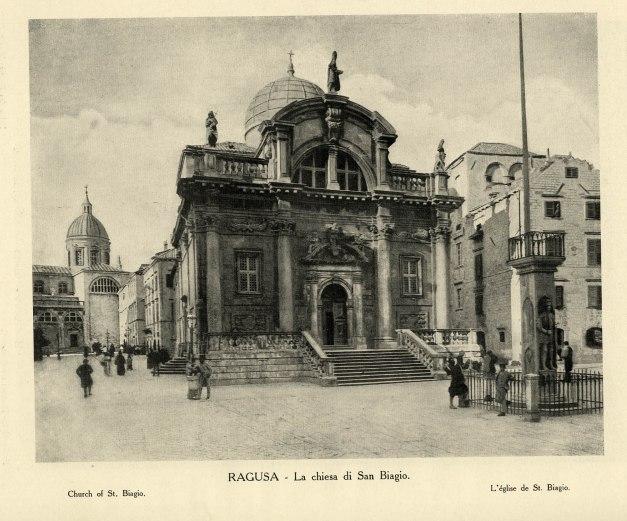 Cartolina con la Chiesa di San Biagio