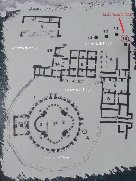 Pianta del campo archeologico