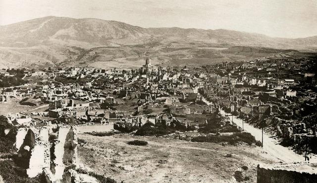 Rovine della parte Armena di Shushi dopo il Pogrom del marzo del 1920