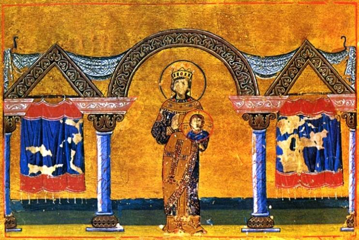 Teodora rappresentata nel Menologion di Basilio II