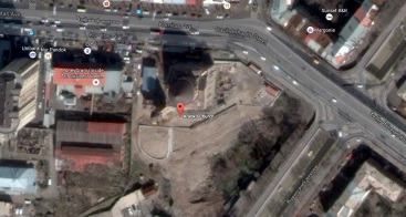Immagine satellitare della Chiesa di Arabkir in costruzione