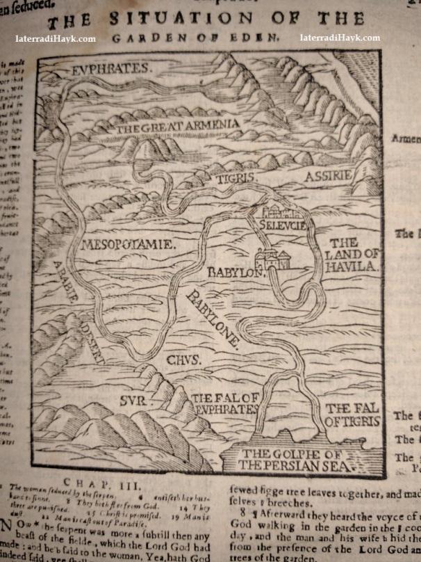 """La mappa """"La situazione del Giardino dell'Eden"""""""