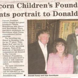 Lilya Karchikyan e il ritratto a Donald e Melania Trump