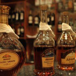Il brandy Ararat Nairi premiato come miglior brandy alla Competizione Internazionale dei Vini e degli Spiriti a Mosca