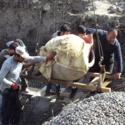 GARNI: i vasi scoperti trasferiti all'Istituto di Archeologia ed Etnografia dell'Accademia Nazionale delle Scienze