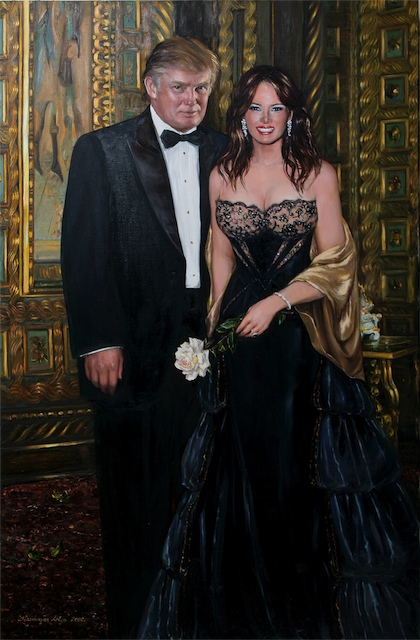 portrait-of-melania-and-donald-trumps-2006-oil-on-canvas-122x84