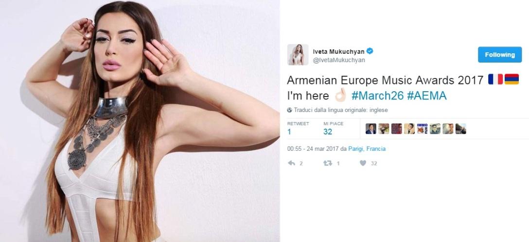 Iveta Mukuchyan AEMA 2017