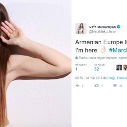 Iveta Mukuchyan ha annunciato su twitter la sua presenza all'Armenian Europe Music Award 2017