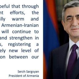 Elezioni Iran, Sargsyan si congratula con Rouhani