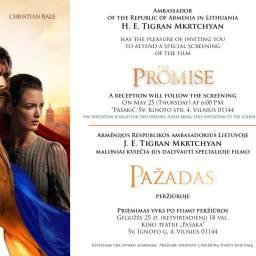 """""""The Promise"""" è stato già proiettato in Estonia, Lettonia e Lituania"""