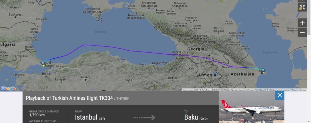 TK334 - Volo 09 giugno