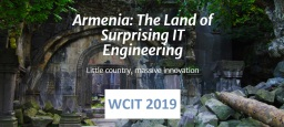 UFFICIALE: il sito del World Congress on Information Technology 2019 in Armenia finalmente online