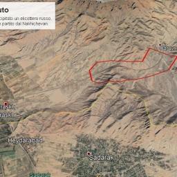 Elicottero russo abbattuto in Armenia vicino al confine con l'Azerbaigian